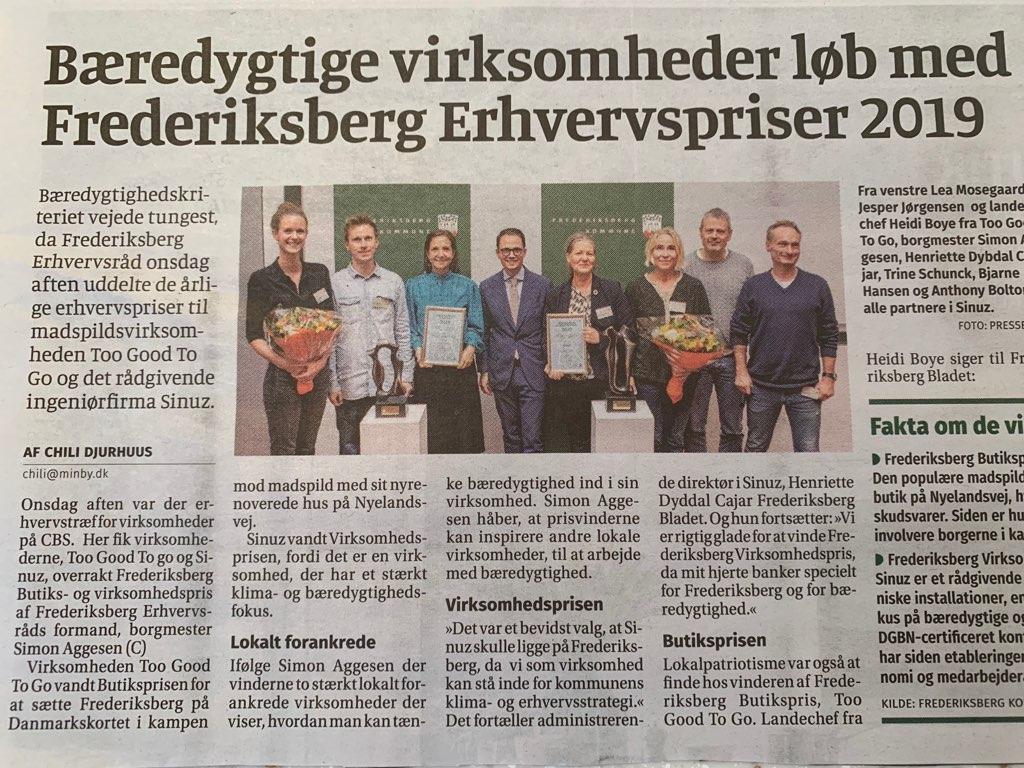Bæredygtige virksomheder løb med Frederiksberg Erhvervspriser 2019